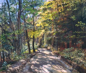 Vermont Road, 1983, Oil on Canvas